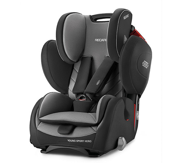 De RECARO Young Sport Hero - Groep I-III Carbon Black