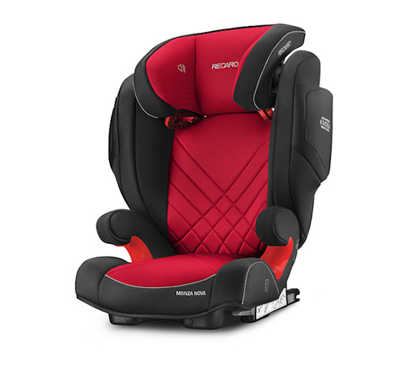 De RECARO Monza Nova 2 Seatfix - Groep II-III Racing Red