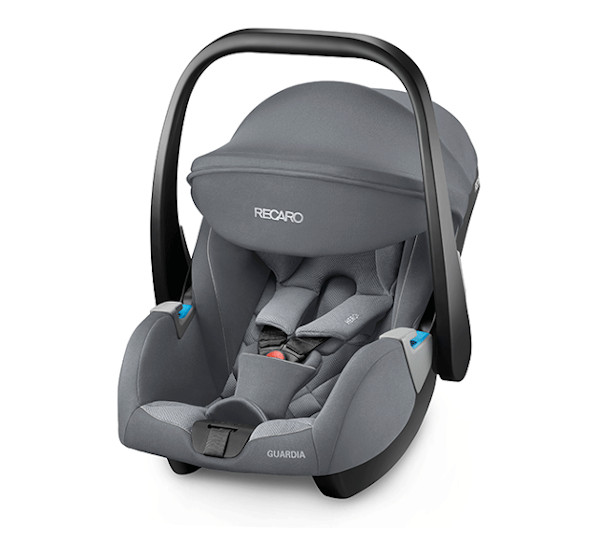 The RECARO Guardia- Group 0+ Aluminium Grey