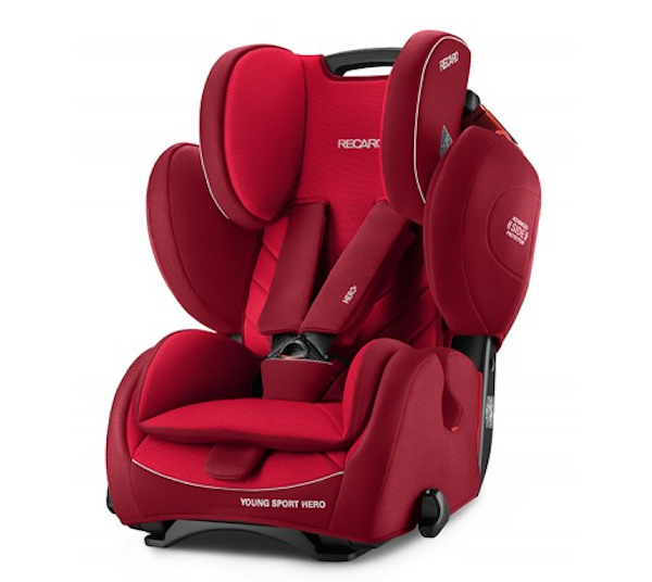De RECARO Young Sport Hero - Groep I-III Indy Red
