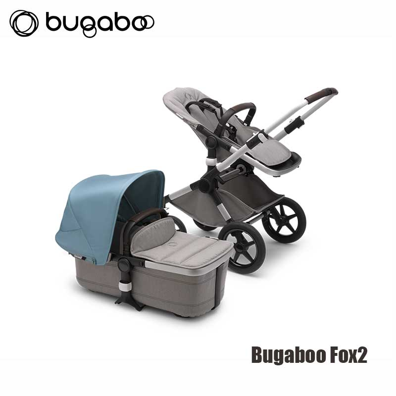 Bugaboo Fox2 - Alu Onderstel- Mineral Light Grey Style Set- Vapor Blue