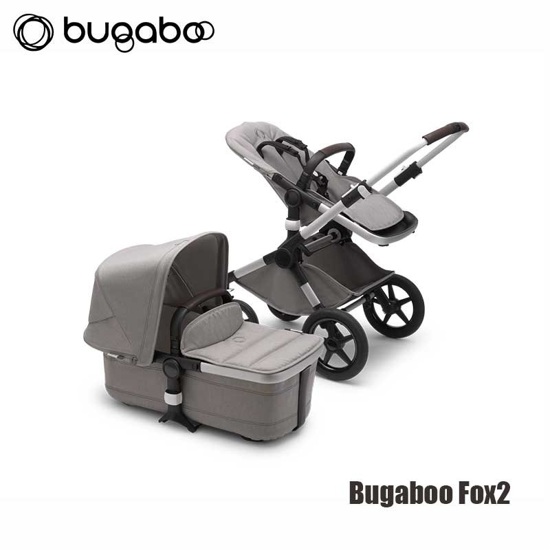 Bugaboo Fox2 - Mineral Collectie- Alu Onderstel- Compleet Light Grey