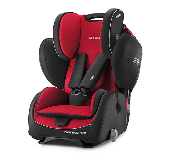 De RECARO Young Sport Hero - Groep I-III Racing Red
