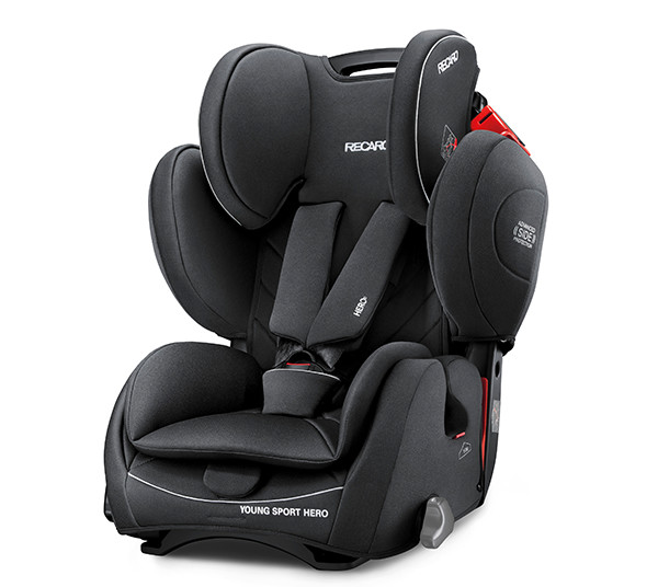 De RECARO Young Sport Hero - Groep I-III performance black