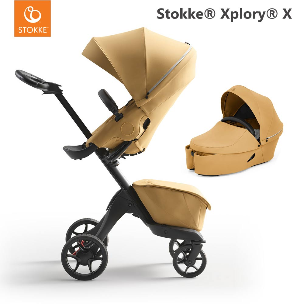 Stokke Xplory X Golden Yellow + Carry Cot Golden Yellow