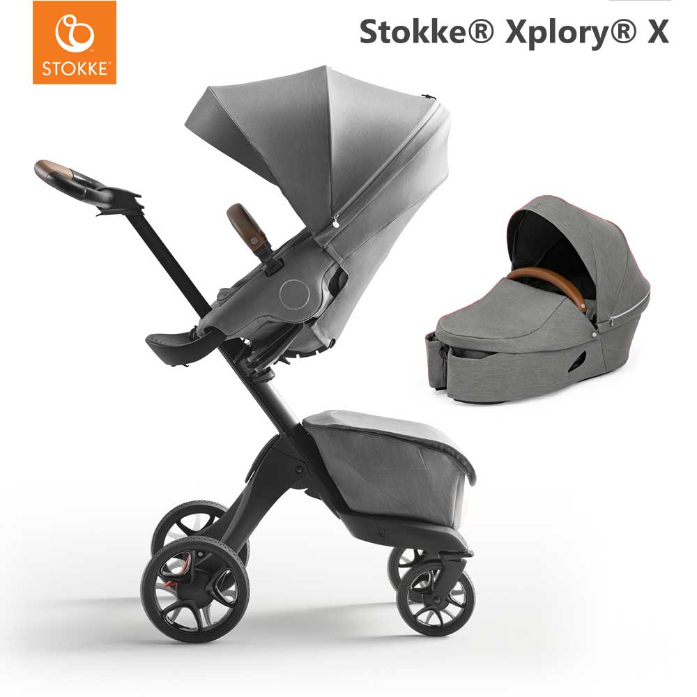 Stokke Xplory X Modern Grey + Carry Cot Modern Grey