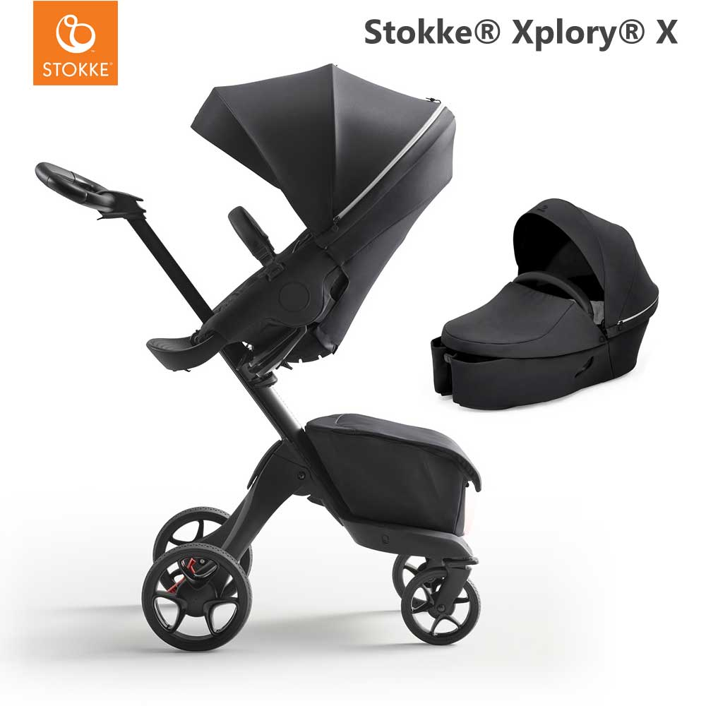 Stokke Xplory X Rich Black + Carry Cot Rich Black