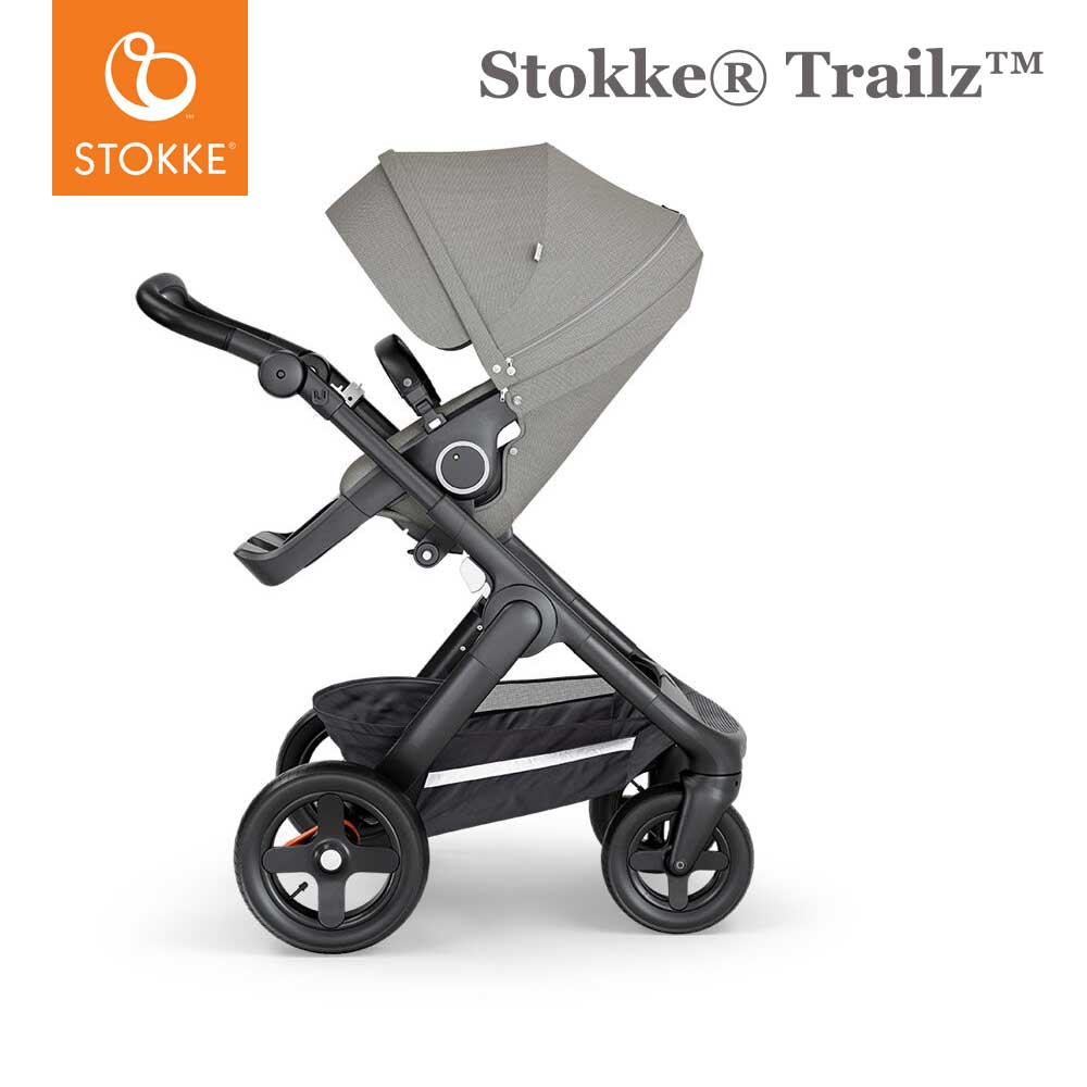 Stokke® Trailz™ Terrein Wielen - Black handvat - Brushed Grey