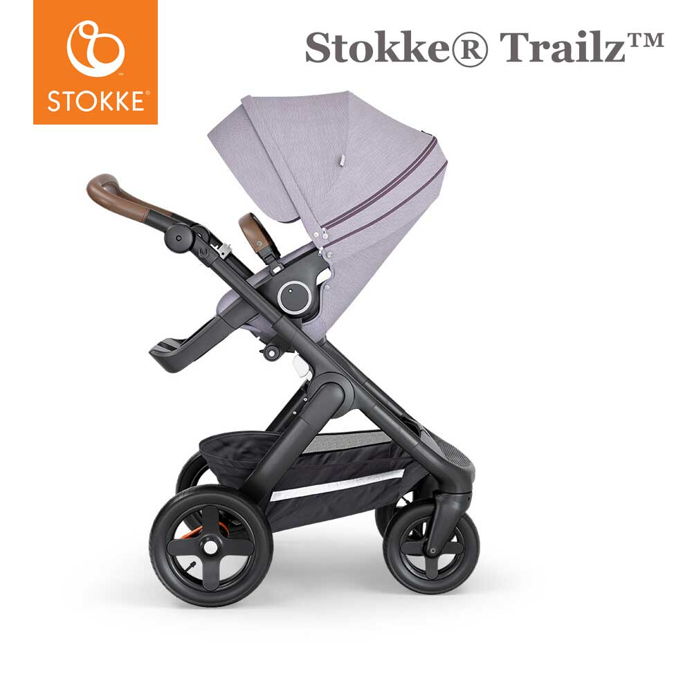 Stokke® Trailz™ Terrein Wielen - Brown Handvat - Brushed Lilac