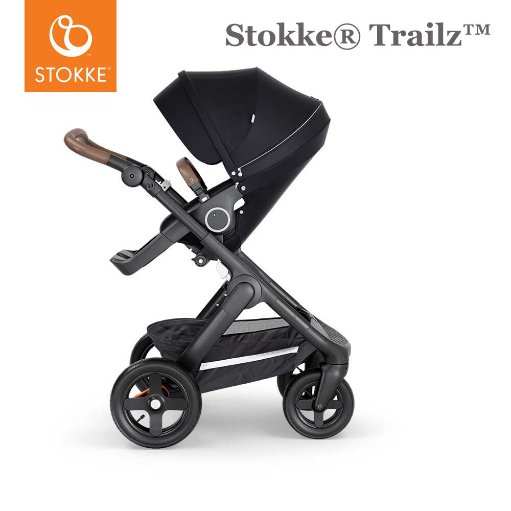 Stokke® Trailz™ Terrein Wielen - Brown Handvat - Deep Blue