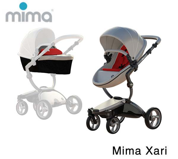 Mima Xari Graphite Grey- Argento- Ruby Red
