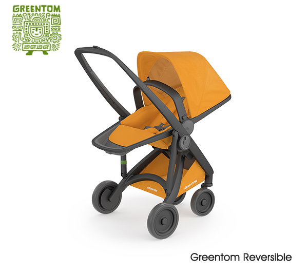 Greentom Reversible Buggy Black - sunflower