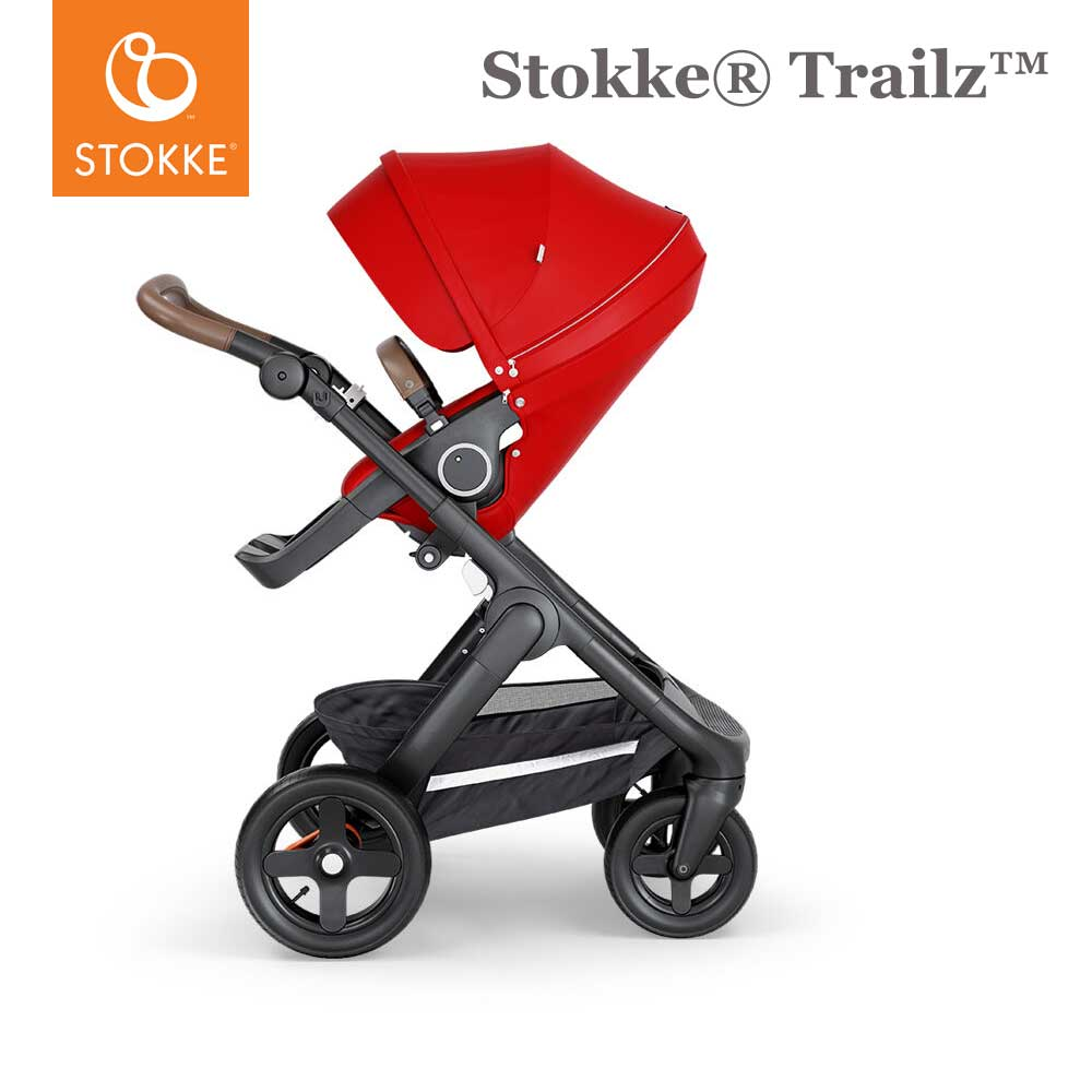 Stokke® Trailz™ Terrein Wielen - Brown Handvat - Red