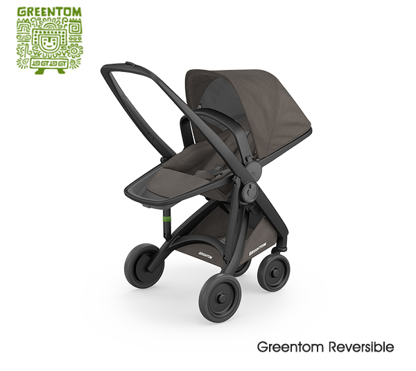 Greentom Reversible Black- Charcoal