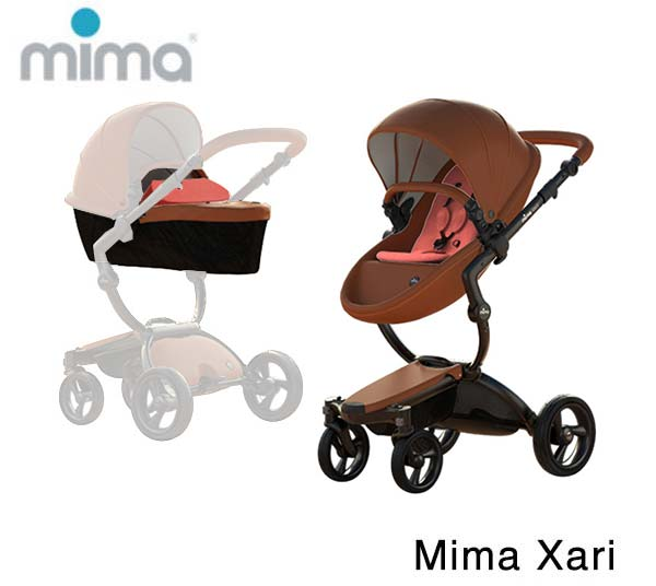 Mima Xari Black- Camel- Coral Red